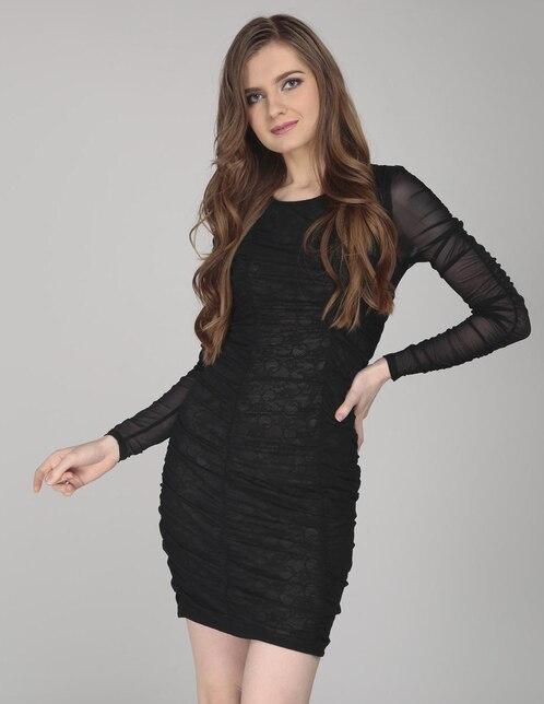 1d148c2f42 Vestido Guess negro texturizado casual