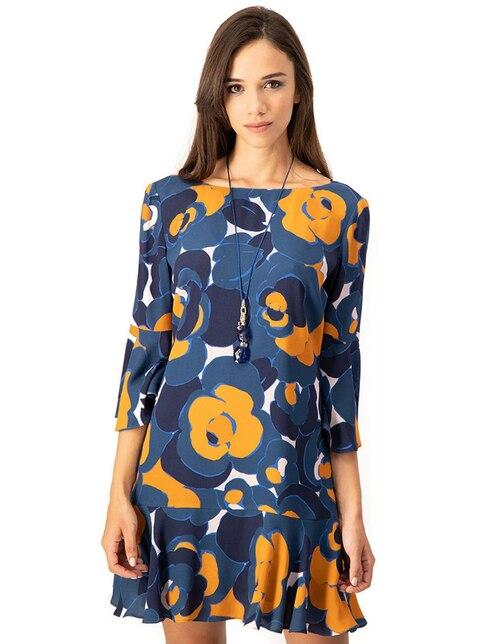 Vestidos ampones cortos azules