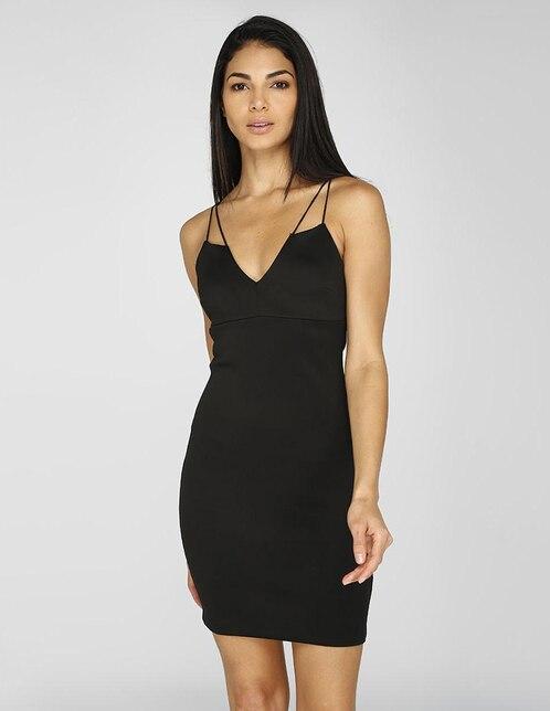 9287f4801 Vestido casual Guess negro cuello V