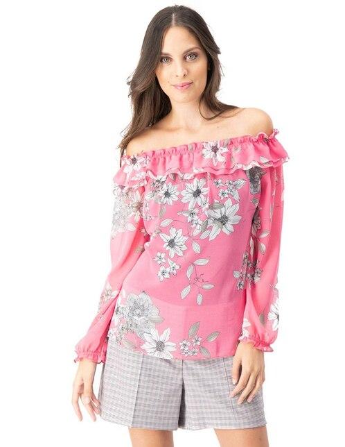d133f0d6b Blusa Ivonne rosa con diseño floral