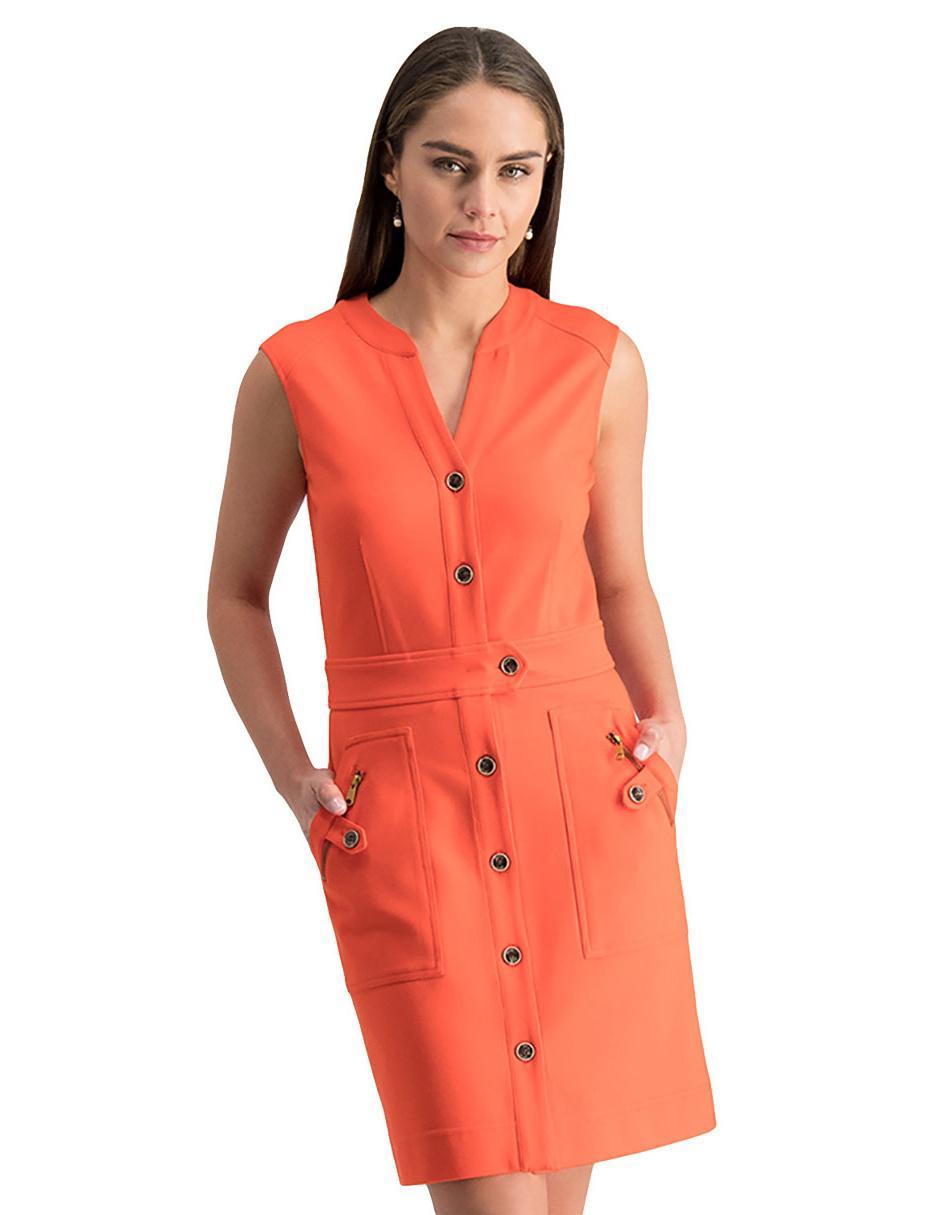 Vestido Liso Julio Naranja