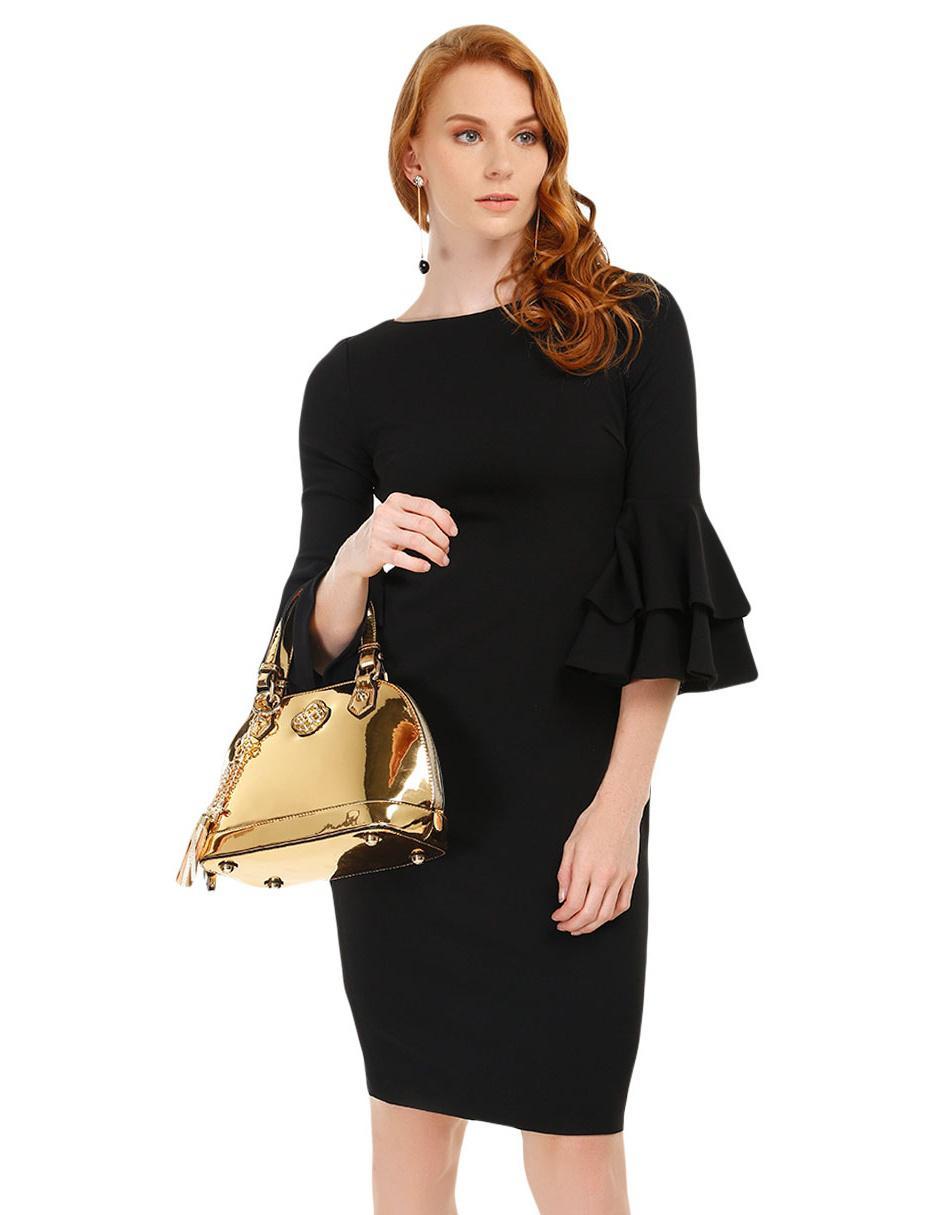 0d6a71c055 Vestido liso Calvin Klein negro