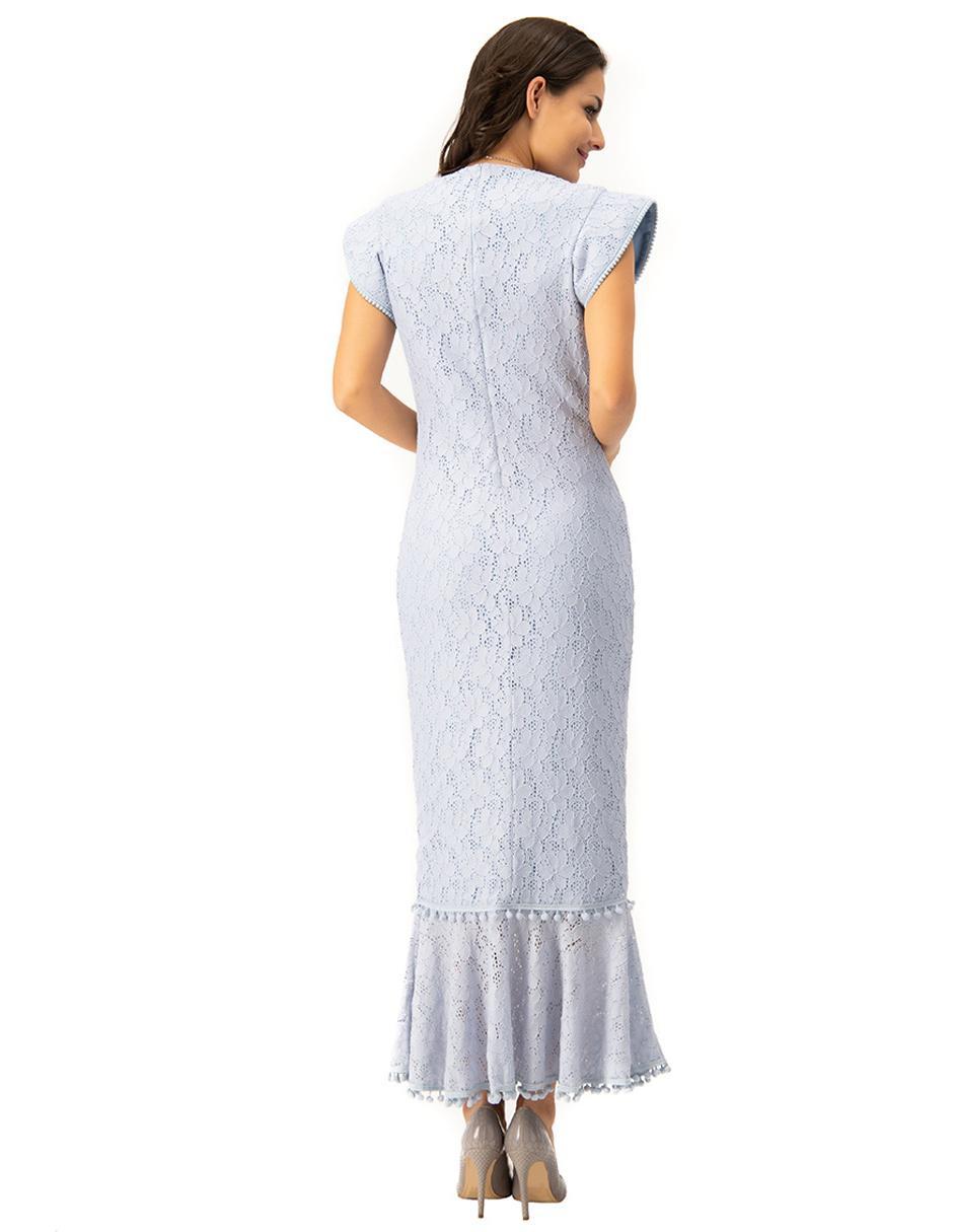 Vestido Ivonne Azul Cielo Floral