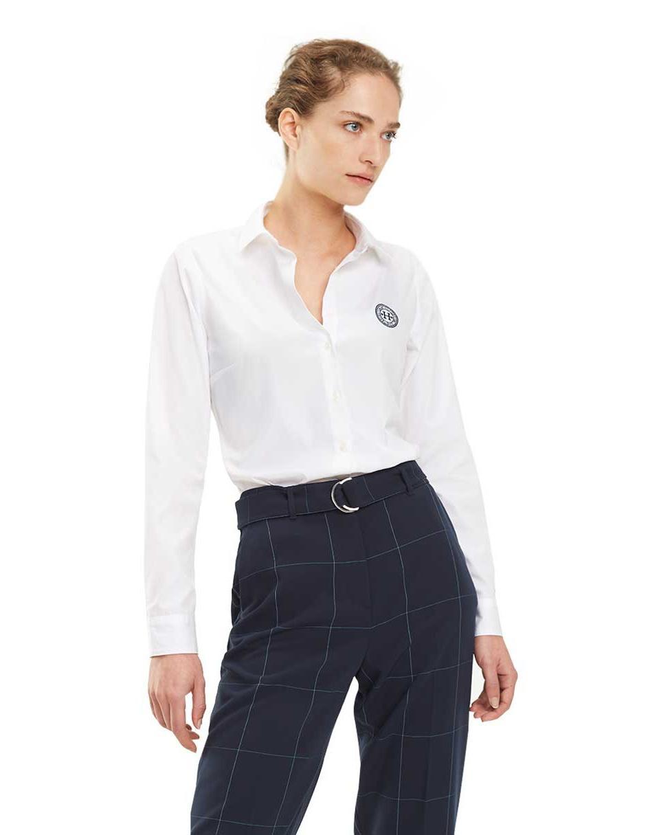 6307bd04398b2 Camisa Tommy Hilfiger blanca con logotipo