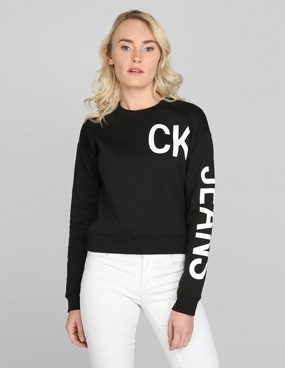 Sudadera Calvin Klein Jeans Negra En Liverpool