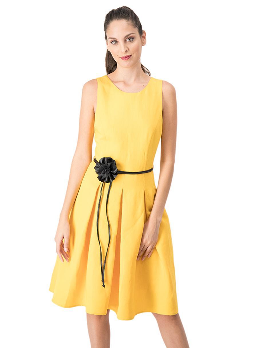 Vestido Ivonne Amarillo Casual