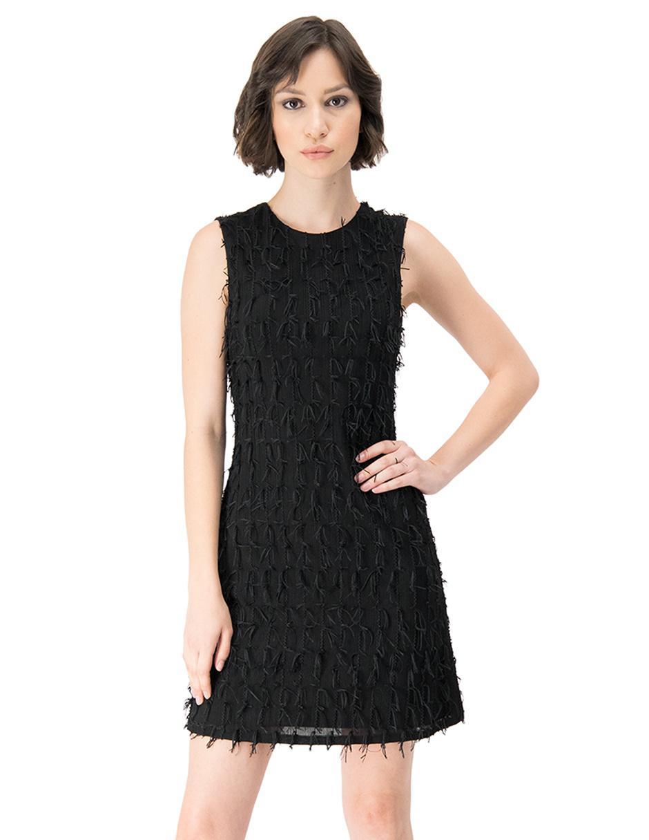 Vestido Ivonne Negro Texturizado Casual